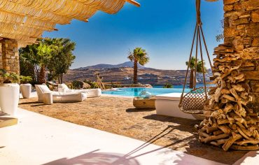 RENT A LUXURIOUS VILLA BY THE SEA IN MYKONOS - VILLA KARKOS - mountain view